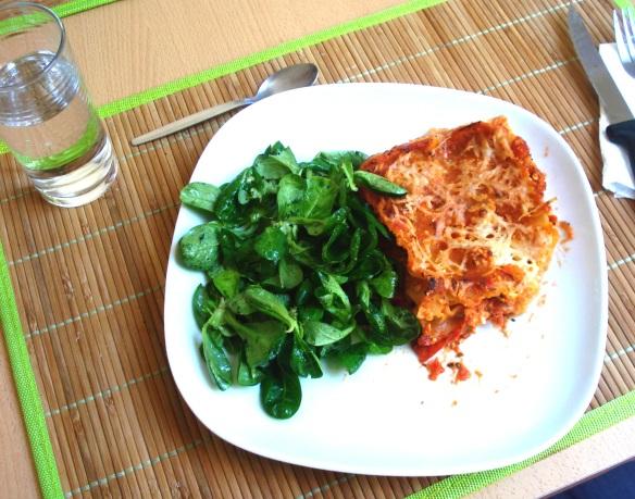 Lasagnes légères au chèvre et sauce tomate à l'arrabiata
